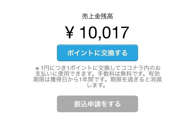 ココナラ累計売上1万円達成!